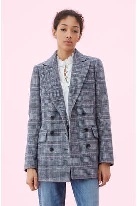 Rebecca Taylor La Vie Doubleface Wool Plaid Coat