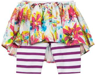 Junior Gaultier Floral and Striped Skirt Leggings