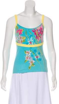 Blumarine Sleeveless Floral Print Top