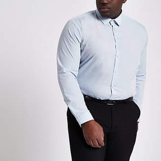 River Island Big and Tall light blue long sleeve shirt