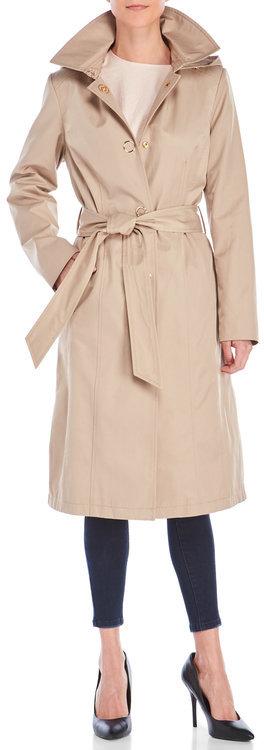 Anne Kleinanne klein Snap-Front Trench Coat