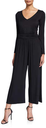Rachel Pally Plus Size Lucas V-Neck Long-Sleeve Wide-Leg Jersey Jumpsuit