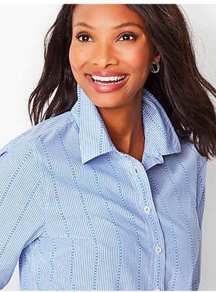Talbots Classic Cotton Shirt - Empire Stripe