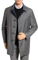 Hickey Freeman Classic Fit Reversible Wool & Silk Overcoat