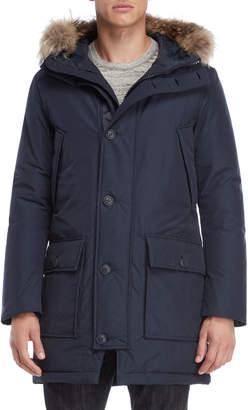 Blauer Real Fur Trim Hooded Down Coat