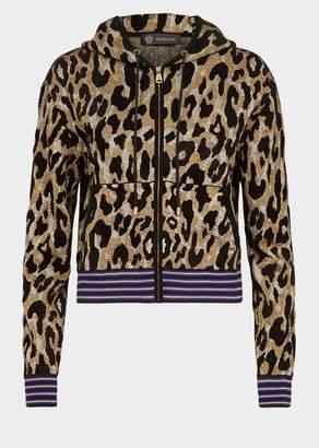 Versace Animalier Knit Hoodie