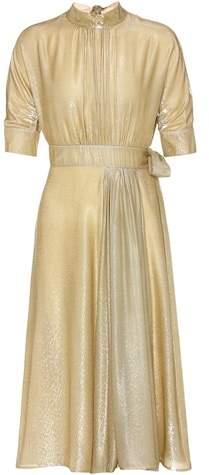Prada Lamé silk blend velvet dress