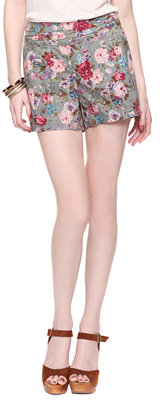 Forever 21 Floral Tapestry Shorts