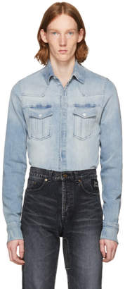 Pierre Balmain Blue Denim Shirt