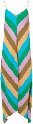 Tibi Julian Stripe Slip Dress