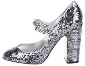 0e234149b9e Dolce   Gabbana Sequin Mary Jane Pumps