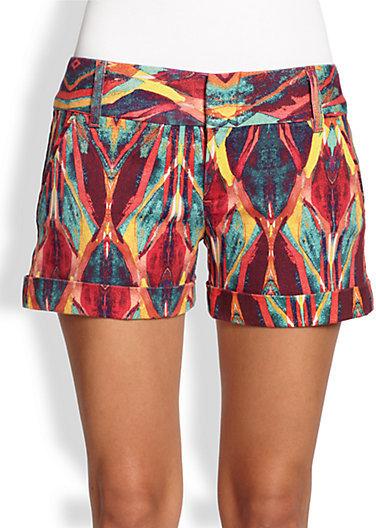 Alice + Olivia Cady Tribal Cuff Shorts