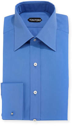 Tom Ford Solid-Color French-Cuff Slim Fit Dress Shirt