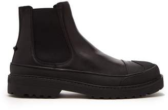 Neil Barrett Military Tank Leather Chelsea Boots - Mens - Black