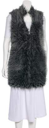 MICHAEL Michael Kors Faux-Fur Sleeveless Coat