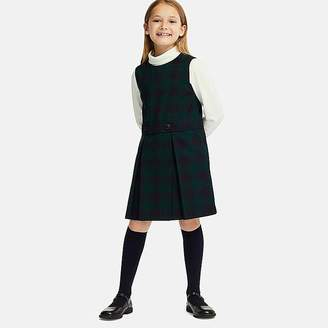 Uniqlo Girl's Checked Jumper Dress