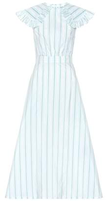 Calvin Klein Striped cotton and silk dress