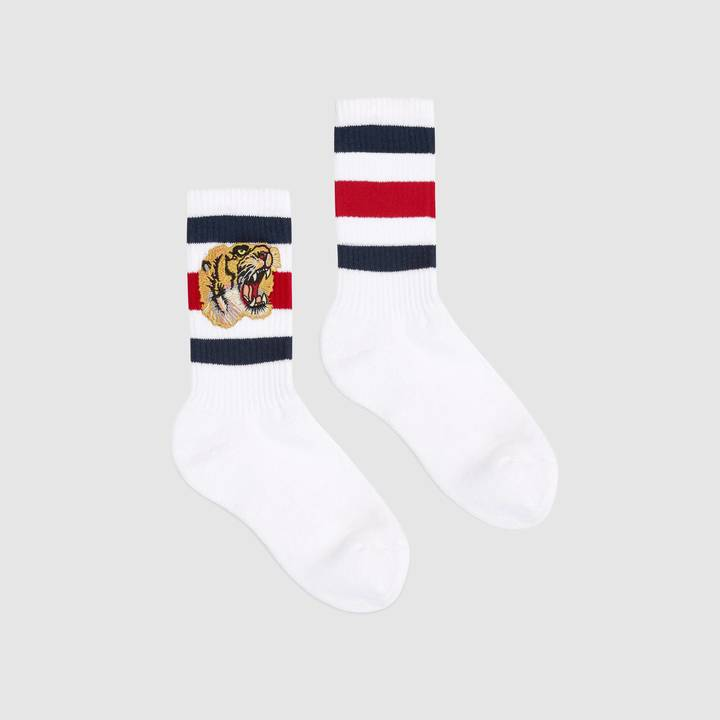 Stretch cotton socks with tiger 5