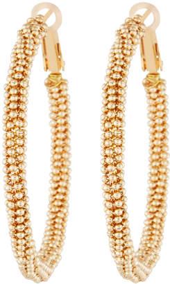 Panacea Beaded Hoop Earrings w/ Lever Backs