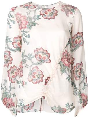 Pink floral blouse shopstyle at farfetch pinko ancora floral blouse mightylinksfo