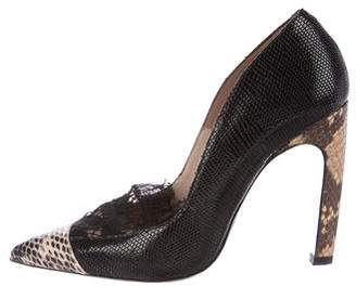 Dries Van Noten Embossed Pointed-Toe Pumps