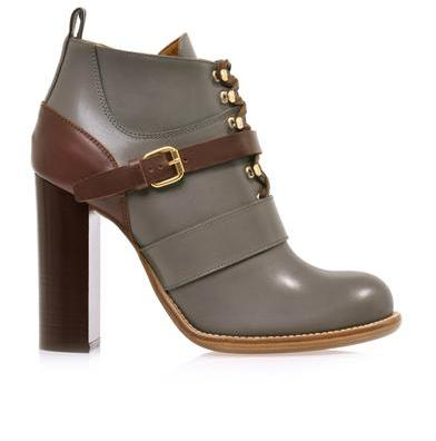 Chloé Bernie bi-colour leather ankle boots