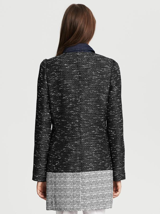 Banana Republic Colorblock Tweed Coat