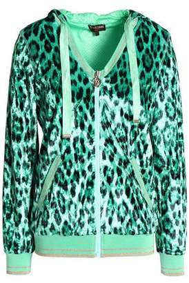 Roberto Cavalli Leopard-Print Chenille Hooded Jacket