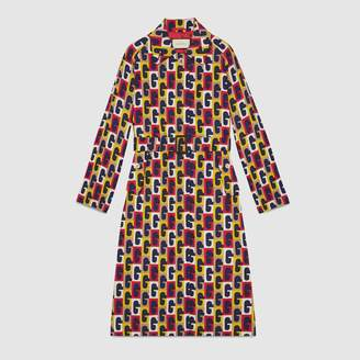 Gucci G Sequence silk belted coat