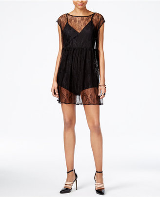 GUESS Hailey Lace Romper Dress $108 thestylecure.com