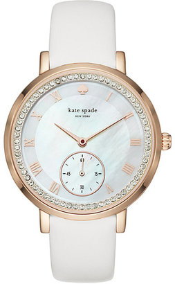 White and rose gold pave monterey multifunction watch $250 thestylecure.com