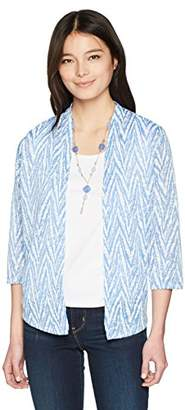 Alfred Dunner Women's Petite Zig Zag Two for One