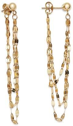 Moon & Meadow Draped Triple Chain Drop Earrings in 14K Yellow Gold - 100% Exclusive