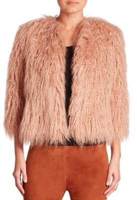 Theory Elstana 2 Faux Fur Coat $455 thestylecure.com