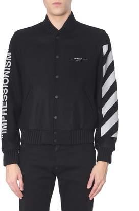 Off-White Off White Wool-blend Varsity Jacket