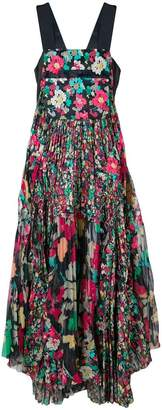 Sacai floral pleated dress