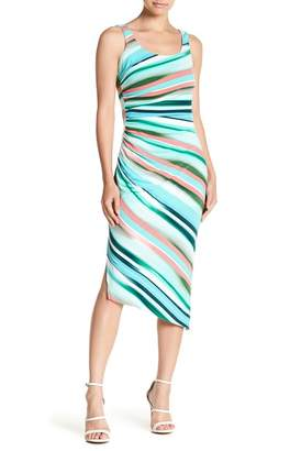 London Times Asymmetrical Midi Dress (Petite)