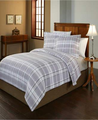 Pointehaven Jensen Print Luxury Size Cotton Flannel Duvet Set Full Queen Bedding