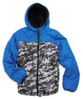 London Fog Boy's Camouflage Reversible Jacket