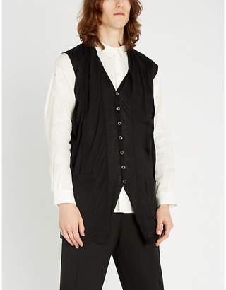 Ann Demeulemeester Iliad sleeveless cotton-silk blend cardigan
