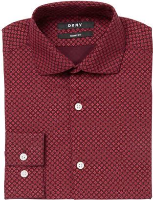 DKNY Big Boys Neat Foulard Shirt