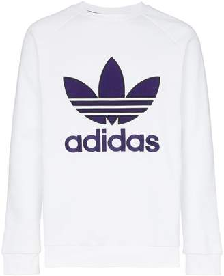 adidas purple logo crew neck sweatshirt