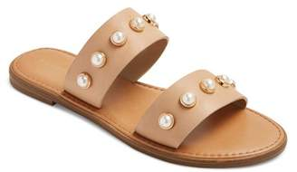 Merona Women's Margo Pearl Slide Sandals $24.99 thestylecure.com