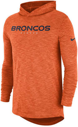 Nike Men's Denver Broncos Dri-Fit Cotton Slub On-Field Hooded T-Shirt