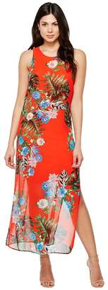Vince Camuto Sleeveless Havana Tropical Maxi Dress w/ Slits Women's Dress