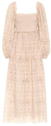 Zimmermann Bayou embroidered cotton dress
