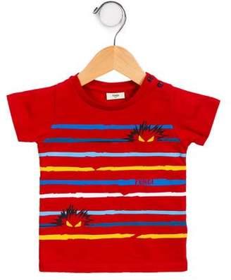 Fendi Boys' Striped Monster T-Shirt