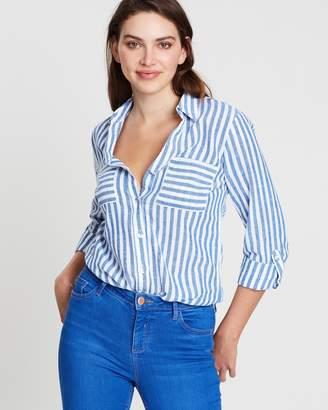 Dorothy Perkins Stripe Linen Shirt