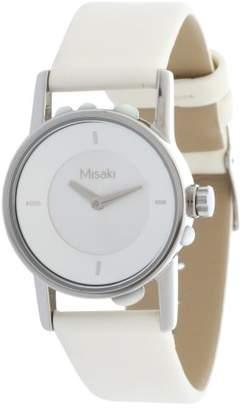 Misaki Women's Quartz Watch with Black Dial Analogue Display Quartz Leather Qcuw Regatta