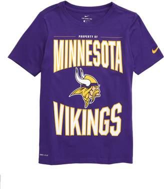 Nike NFL Logo Property of Minnesota Vikings Dri-FIT T-Shirt